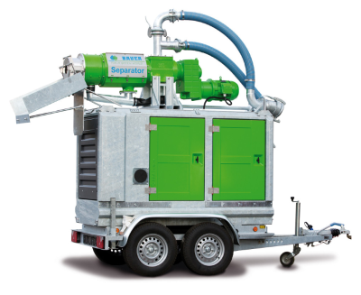 BAUER recently developed a portable Plug and Play Manure Separator
